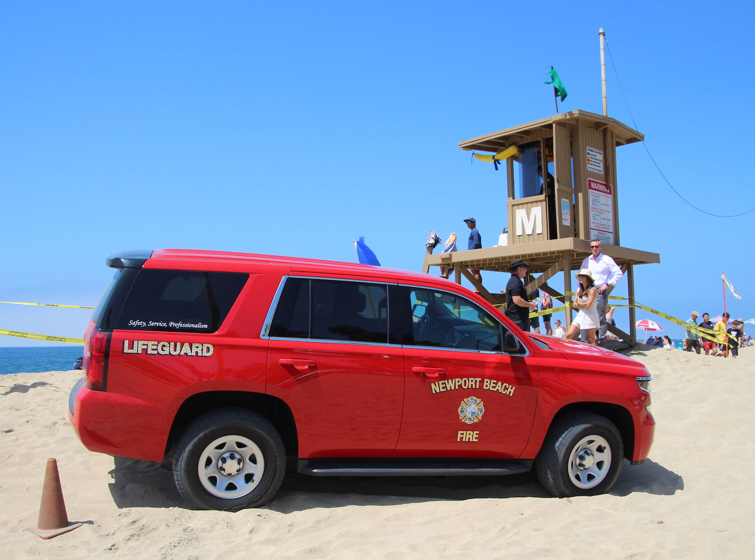Lifeguards on the waterfront Lifeguard truck
