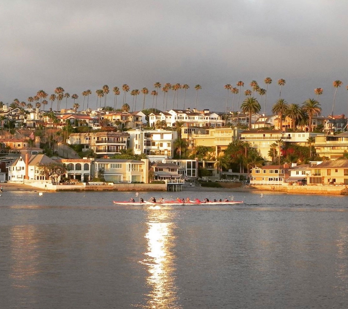 Newport Harbor lights