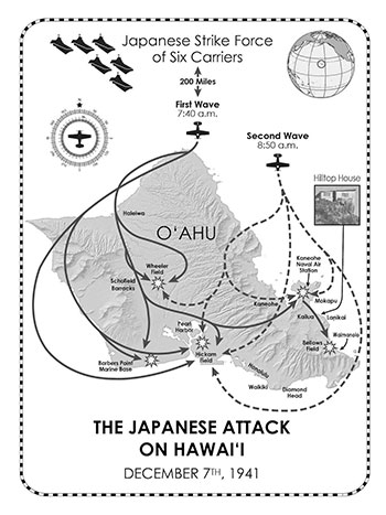 Japanese Attack on Hawaii map