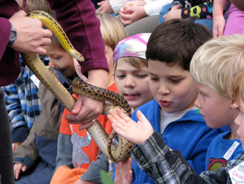 ENC kids with snake