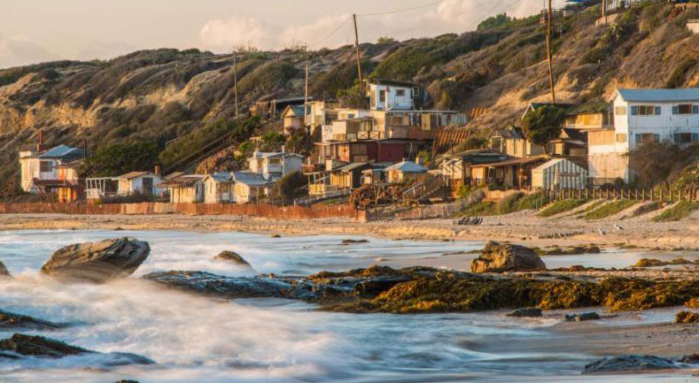 Crystal Cove cottages and cliffsLRG