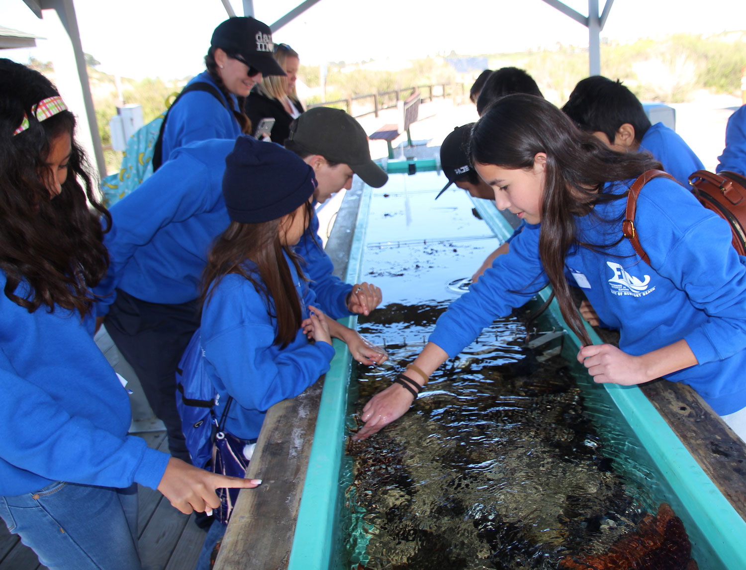 Fifth graders attend FiiN Touch tank