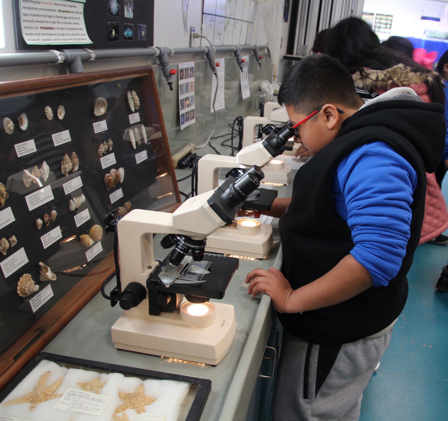 Fifth graders attend FiiN Viewing plankton