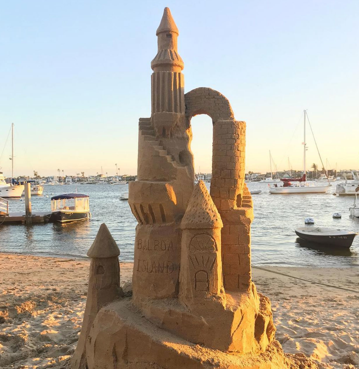 Sand castle tower