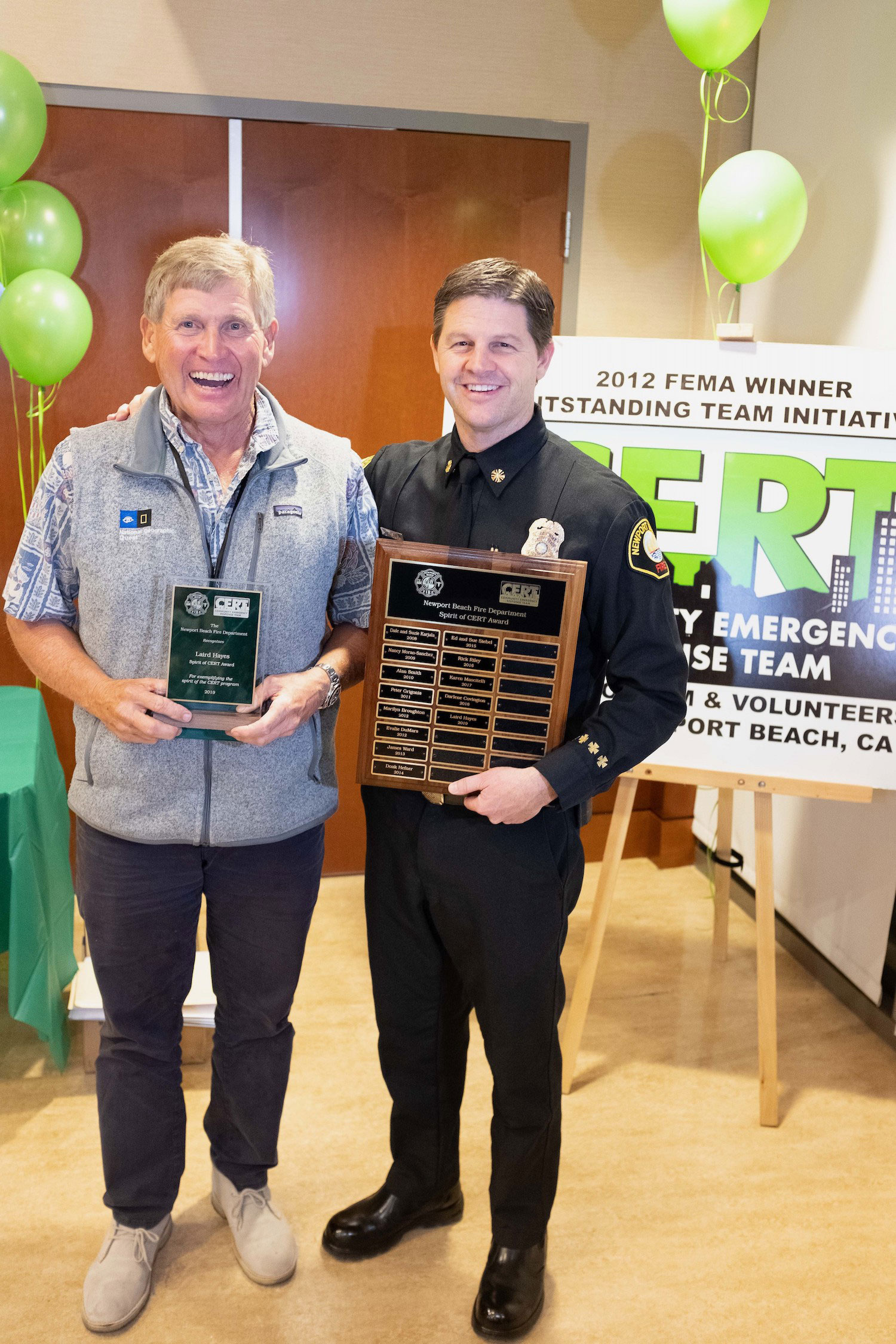 NBFD holds CERT dinner Laird and Jeff