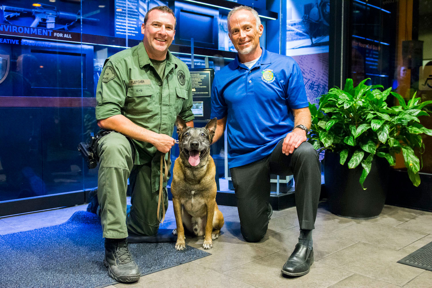 NBPD presents guys with canine