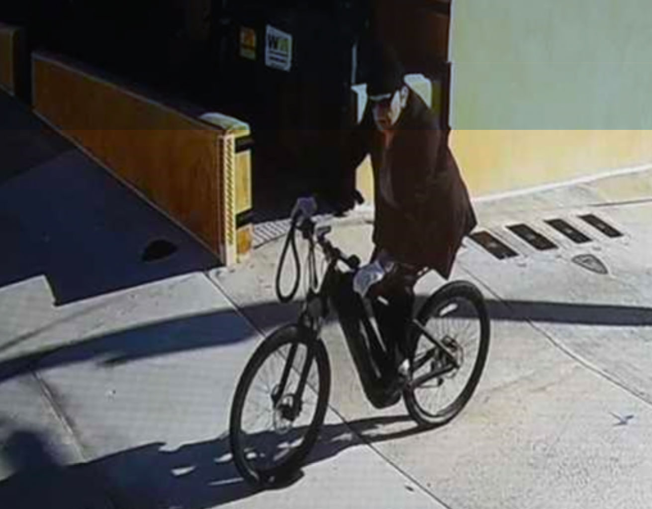 Police Files suspect on bicycle