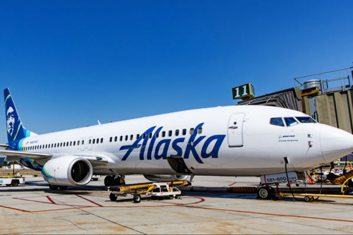 Fire Files Alaskan AIrlines jet