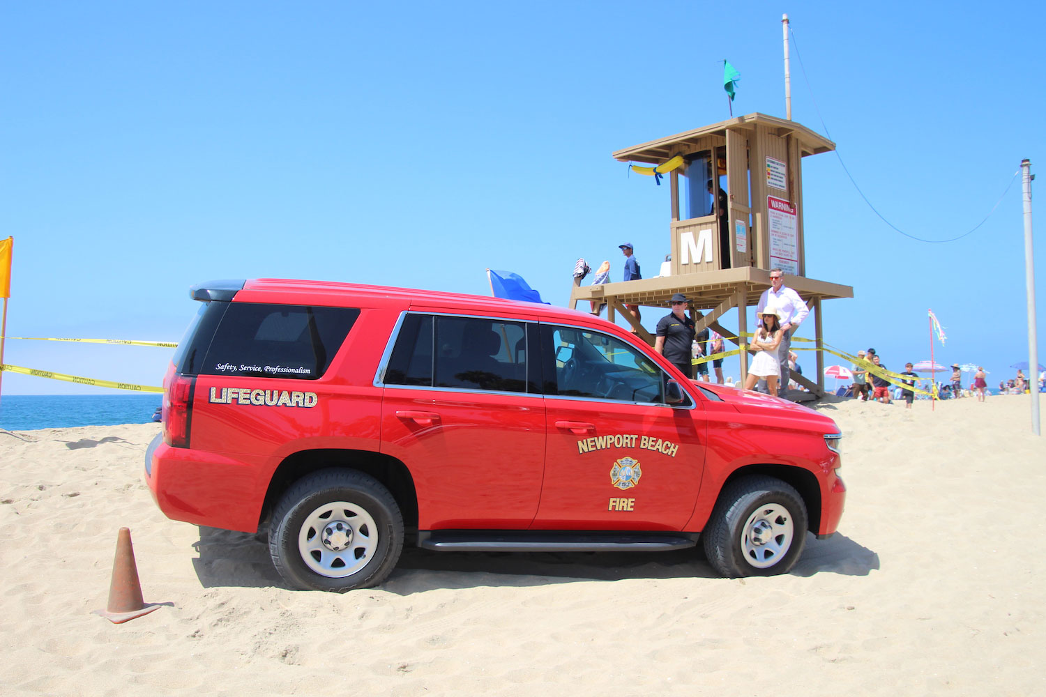 Police Files Lifeguard truck on sand