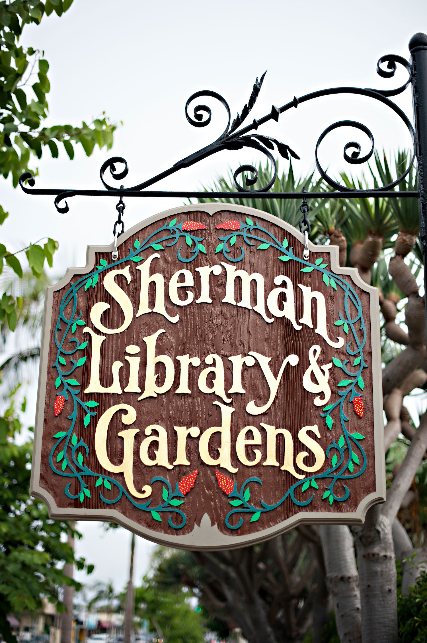 Sherman Library Sign