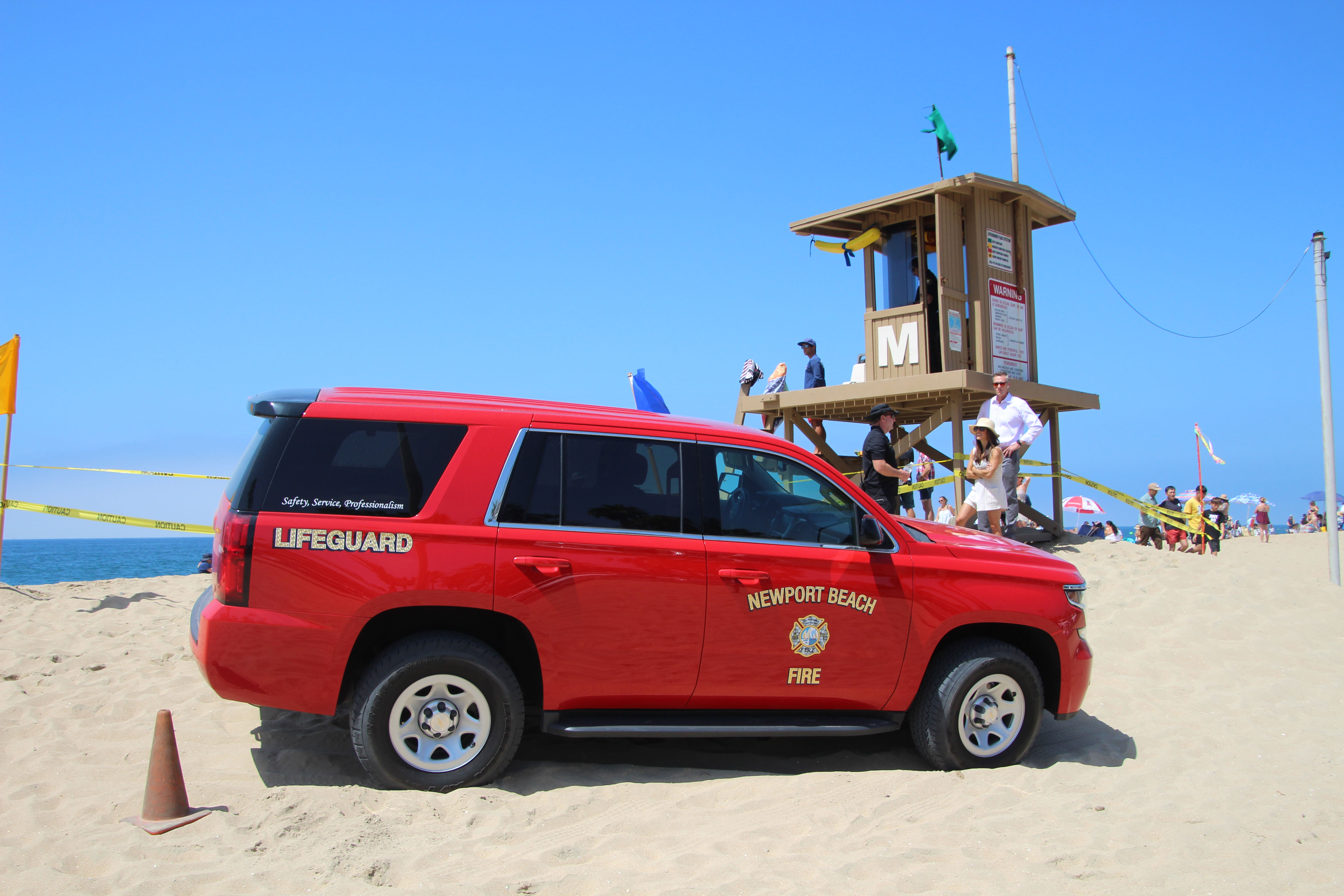 Police Files Lifeguard truck in sand