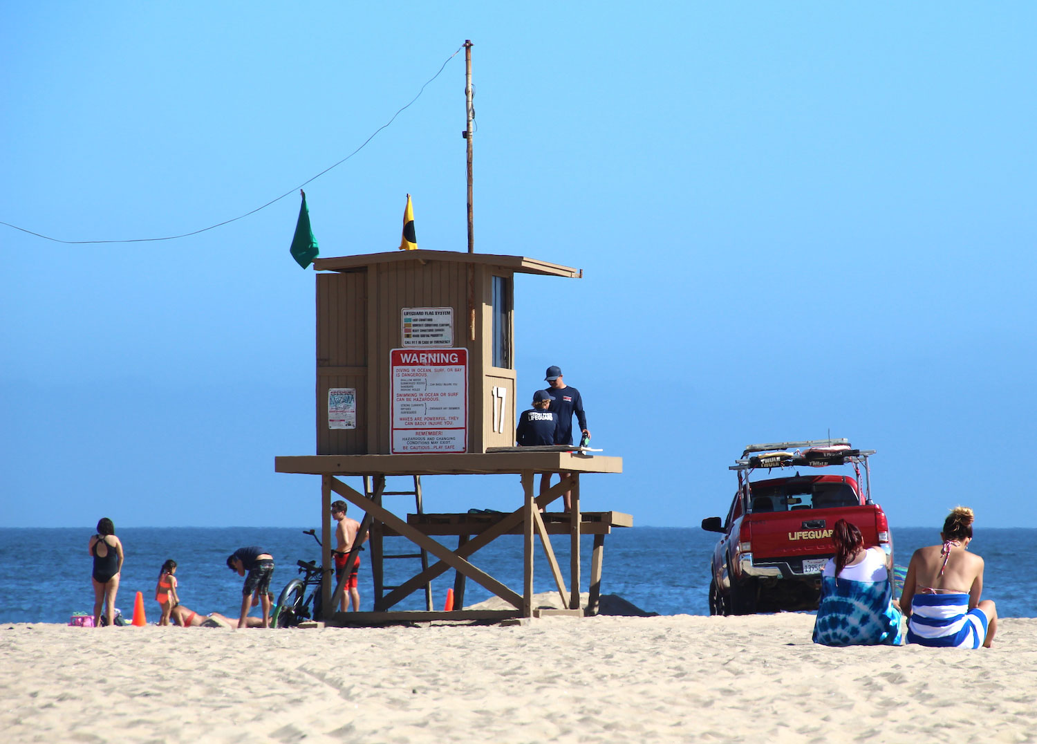 Police Files Lifeguard Tower